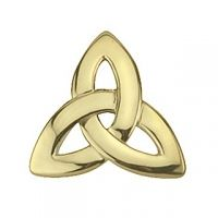 Gold Plated Trinity Knot Tie Pin