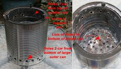 A really nice description and nice plan for a double walled wood gasifier stove. Has instructions for making a smaller one, but notes that it is less effective.
