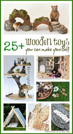 Wooden Toys You Can Make Yourself: with this collection of DIY toys tutorials you can make truly unique gifts for babies, toddlers and older kids (Kids Wood Crafts Diy Tutorial) Projects For Kids, Diy For Kids, Wood Projects, Gifts For Kids, Handmade Wooden Toys, Wooden Diy, Woodworking For Kids, Woodworking Projects, Woodworking Toys