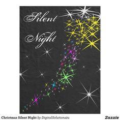 Christmas Silent Night Fleece Blanket