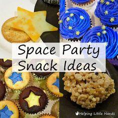 """Galaktisches Essen Unser Kindergeburtstag hat das Motto """"Weltraum"""". Dieses Essens-Idee sieht einfach galaktisch aus! Vielen Dank dafür Dein balloonas.com #kindergeburtstag #motto #mottoparty #galaxy #food #essen #weltraum #stars #milchstraße #unendlicheweiten #outer space Space Snacks, Space Food, Space Baby Shower, Alien Party, Outer Space Party, Moon Party, Food Themes, Food Ideas, Party Snacks"""