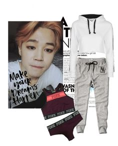 """Lazy Day W/Jimin"" by jiminsbabex ❤ liked on Polyvore featuring Abercrombie & Fitch, Victoria's Secret and Topshop"