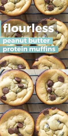 Flourless Peanut Butter Banana Protein Muffins Peanut Butter Banana Protein Muffins, an easy flour-less gluten free breakfast! These easy muffins are packed with healthy ingredients, the perfect way to start your day! Pancakes Protein, Banana Protein Muffins, Healthy Muffins, Protein Cookies, Protein Cake, Protein Powder Muffins, Protein Donuts, Pancake Muffins, Oat Muffins