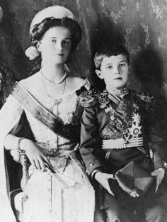 Grand Duchess Olga and Tsarevitch Alexei in court dress, 1910.  Love it! checkout www.sweetpeadeals.com for dresses up to 80% OFF!