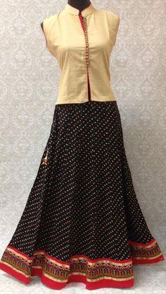 Cotton Bandhani Skirt