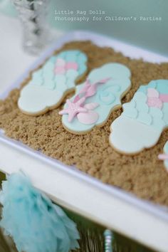 Mermaid Birthday Party cookies!  See more party ideas at CatchMyParty.com!