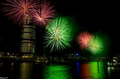https://flic.kr/p/T28yAj | Christmas Eve 2016 at Brisbane Southbank | Fireworks