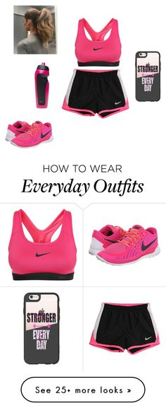 """""""Nike workout outfit!!"""" by dancerlove7 on Polyvore featuring NIKE and Casetify"""