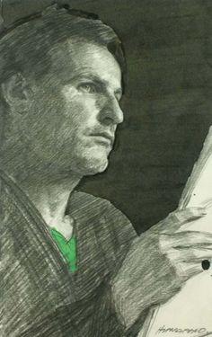 Robert Hannaford (1944 - )   Self-Portrait-3x2-1989