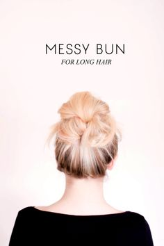 messy bun for long hair tutorial | sitting in our tree blog