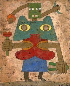 Brauner, Victor (1903-1966) - 1946 Le Poète en exil (Christie's New York, 2007) by RasMarley, via Flickr