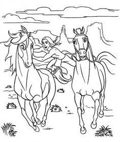 Spirit Kleurplaten voor kinderen. Kleurplaat en afdrukken tekenen nº 11