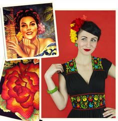 Trashy Diva's Del Rio Dress was inspired by vintage Mexican dresses and culture. Read more about it on Patricia's blog. #trashydivadelriodress