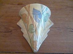 Art Deco Wall Pocket Vase Kensington Ware VGC |