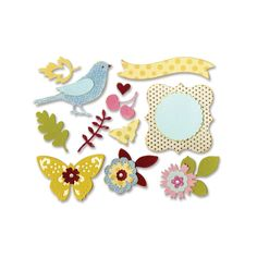 Sizzix - Favorite Things Collection - Thinlits Die - Floral Wreath at Scrapbook.com