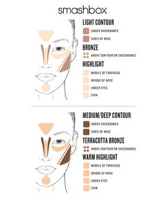 Beauty-contouring makeup kit with step-by-step instructions. Includes highlighter, contour, bronzer and a brush. So easy to use and totally brightens the face. Eyebrow Makeup Tips Contour Makeup, Skin Makeup, Beauty Makeup, Hair Beauty, Makeup Brushes, Beauty Skin, Eyeliner Makeup, Eyeshadow Brushes, Drugstore Makeup