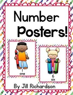 Help your students learn the numbers from one to ten!  Easy prep! Print on cardstock and laminate.Hang in Classroom!Make a classroom big book!