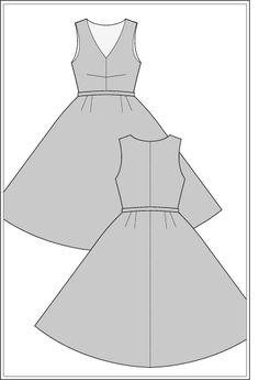 carmen-dress-1950s FREE SEWING PATTERN – WOMEN'S WEAR SIZE: UK10 – BUST: 89cm | WAIST: 68cm | HIP: 92cm