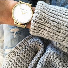 This watch from Larson & Jennings almost never leaves my wrist! Prep Style, My Style, Larsson And Jennings Watch, Jillian Harris, Minimal Classic, Cozy Sweaters, Fashion Watches, Girly Things, Style Inspiration