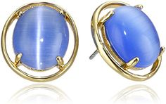 kate spade new york Kate Spade Open Rim Blue Stud Earrings *** Click on the image for additional details.