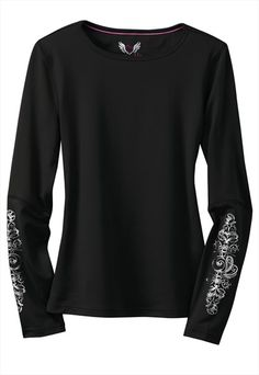 Smitten Inkt long sleeve athletic knit tee.