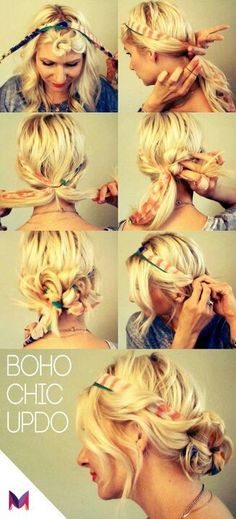 This is awesome!!- boho chic updo