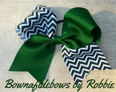 Cheer+bow+tick+tock+chevron+by+BownafideBows+on+Etsy