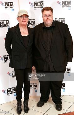 Actor Eddie Izzard and Justin Johnson of the BFI attend the Rock Dog photocall during the 60th BFI London Film Festival at Vue Leicester Square on October 8, 2016 in London, England.