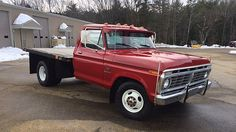 1974 Ford Dually Flat Bed presented as Lot at Kissimmee, FL Ford Work Trucks, Classic Ford Trucks, Farm Trucks, Ford Pickup Trucks, Old Trucks, F350 Dually, Dually Trucks, Welding Trucks, Custom Truck Beds