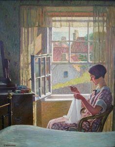 Woman Sewing by Window by Tom Gentleman on Curiator, the world's biggest collaborative art collection. Digital Museum, Portraits, Collaborative Art, Sewing Art, Open Window, Traditional Art, Female Art, New Art, Oil On Canvas