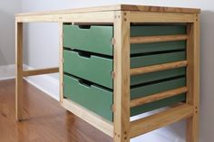 I made a desk and used Dowels as the drawer slides. I made a desk and used Dowels as the drawer slides At Home Furniture Store, Furniture Ads, Kids Bedroom Furniture, Recycled Furniture, Refurbished Furniture, Woodworking Furniture, Plywood Furniture, Unique Furniture, Furniture Projects