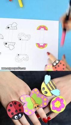 Toddler Paper Crafts, Diy Crafts For Kids Easy, Paper Crafts Origami, Paper Crafts For Kids, Craft Activities For Kids, Preschool Crafts, Ant Crafts, Insect Crafts, Magic Crafts