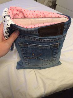 iPad Tasche aus alter Jeasnhose