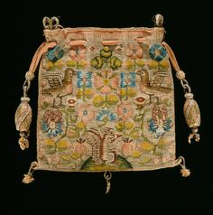 Embroidered Tapestry Purse, 17th Century    © The Fitzwilliam Museum, Cambridge, UK.