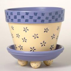 Idea Of Making Plant Pots At Home // Flower Pots From Cement Marbles // Home Decoration Ideas – Top Soop Clay Flower Pots, Flower Pot Crafts, Clay Pot Crafts, Painted Clay Pots, Painted Flower Pots, Container Plants, Container Gardening, Flower Pot Design, Exotic Plants