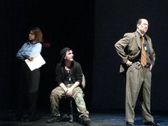 """Marc Raco as Detective Walker in the stage musical """"Hip Hop High"""" (pictures with Anabel Franklin and Nick Stenson"""