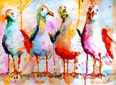 watercolor Steven Ponsford, Four in a Row fineartamerica.com
