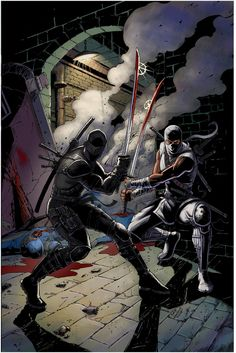 snake eyes storm shadow colors by davidnewbold on DeviantArt Comic Books Art, Comic Art, Shadow Fight 3, Guerrero Ninja, Snake Eyes Gi Joe, Dragon Ball Z, Arte Ninja, Vigilante, Cobra Commander