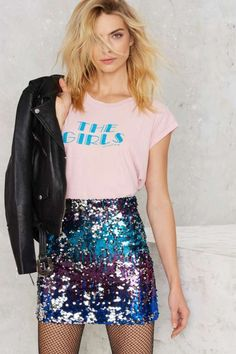 Shore Thing Sequin Skirt