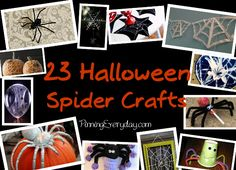 """23 Halloween Spider Crafts: Creepy, crawly, and dare I say """"cute""""?"""