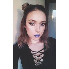 #makeupinspo @promisetamang    #makeup #glitter #glittertears #bunnybuns #bluelips #ombrelips #blueombre #nosering #septum #septumpiercing #makeuppoppin #makeupartist #makeupaddict #makeupjunkie #followme #likes #alien #alienmakeup #l4l #f4f #instagramers #instalike #instamood #instasize #instacool #inspiration #wingedeyeliner #wing #wingedliner