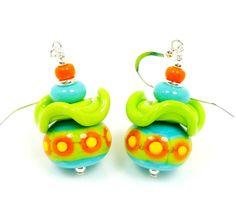 Southwestern Earrings Southwest Jewelry Lampwork by BeadzandMore, $36.00