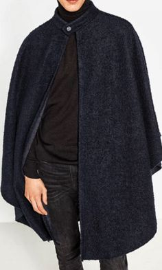 Winter Cape, Capes, Couture Sewing, Winter Cloak, Cape Clothing, Cloaks, 7d5f63bf40f