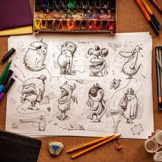 Awesome monsters illustrations