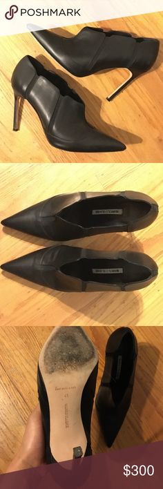 Manolo Blahnik Leather Booties Great used condition. AUTHENTIC! No trades or offline! Euro 41 Manolo Blahnik Shoes