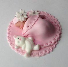 BABY SHOWER CAKE Fondant Cake Topper Baby by BabyCakesByJennifer, $25.00