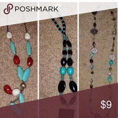 """Set of 3 Turquoise necklaces 18"""" in length Set of 3 Turquoise necklaces 18"""" in length asking $9 for each Jewelry Necklaces"""