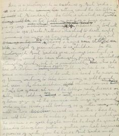 Photograph of The Pursuit of Love manuscript © The Mitford Archive Mitford :: Permissions
