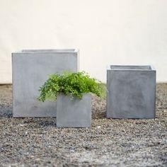 Cubist Fiber Planter