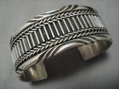 Heavy And Thick! Flashing Sterling Silver Vintage Native American Navajo Bracelet Old Sterling Silver Bracelets, Silver Earrings, Silver Jewellery, Silver Bangles, Indian Jewelry, Earrings Uk, Navajo Jewelry, Deep Silver, 925 Silver